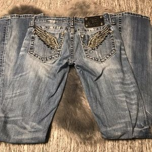 Miss me wings jeans size 26